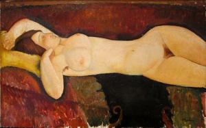 《大裸夫》 1917年 73×116 厘米 莫迪里阿尼