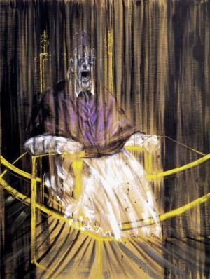 《教皇》培根 油画